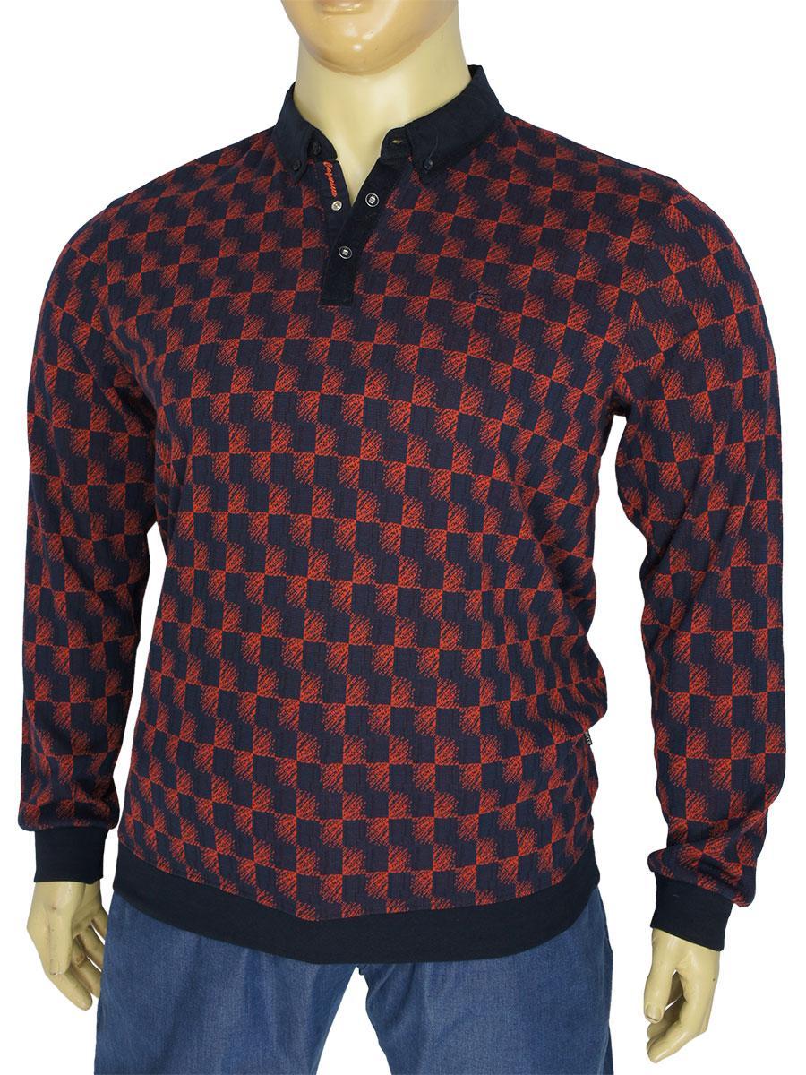 Стильный мужской свитер Caporicco 9103 B Bordo большого размера