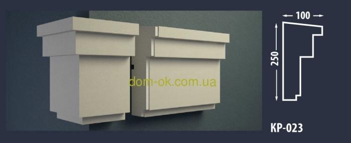 Фасадный карниз из пенопласта с покрытием КР-023