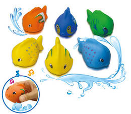 """Игрушка-пищалка для ванной  """"Цветные рыбки"""", 6 шт., ТМ BeBe lino, 57090"""