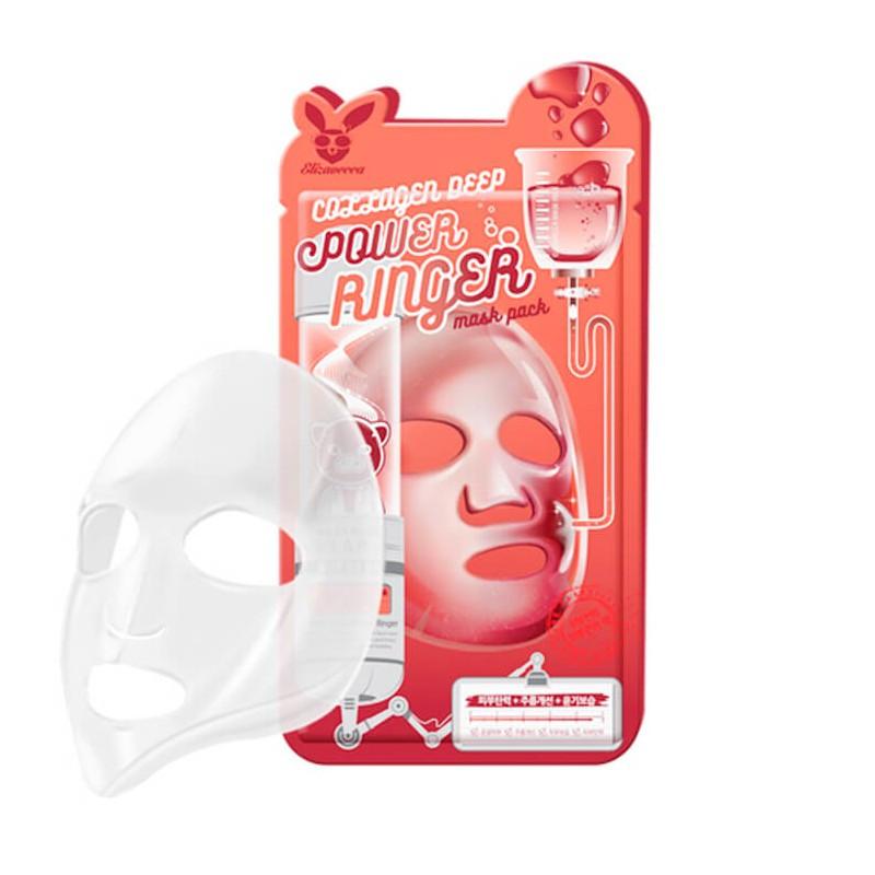 Омолаживающая тканевая маска Elizavecca Collagen Deep Power Ringer Mask Pack 1 шт (8809520941891)