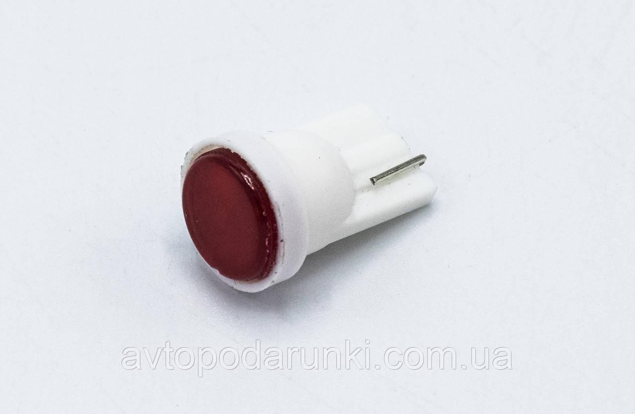 Габарит LED T10 #25 - COB 3D 12v / цвет Красный