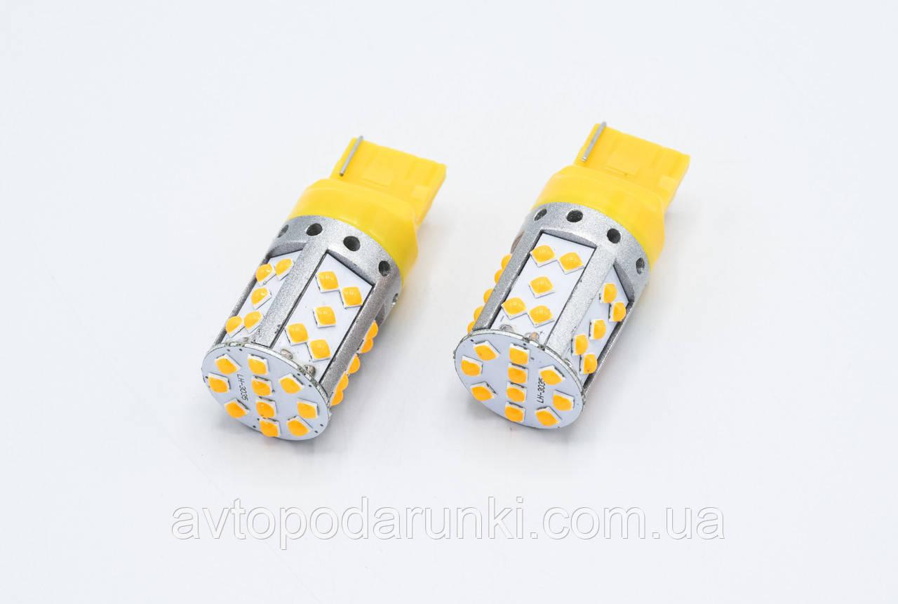 LED лампа JK194/Цоколь T20 (7440) / 35 led(3035)/ CAN (ОРАНЖЕВАЯ) к-кт 2шт