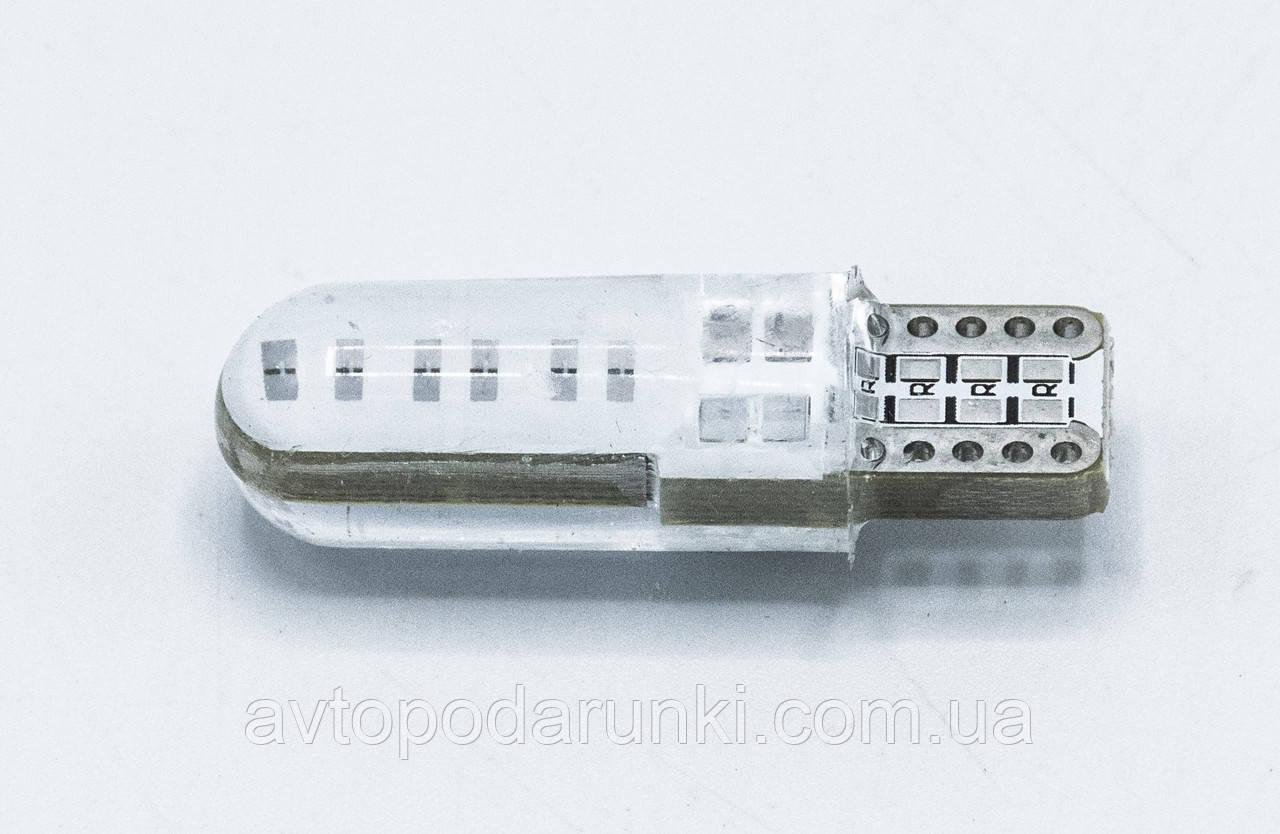 Габарит LED T10 #33 - COB type-B Long 12V / цвет Синий