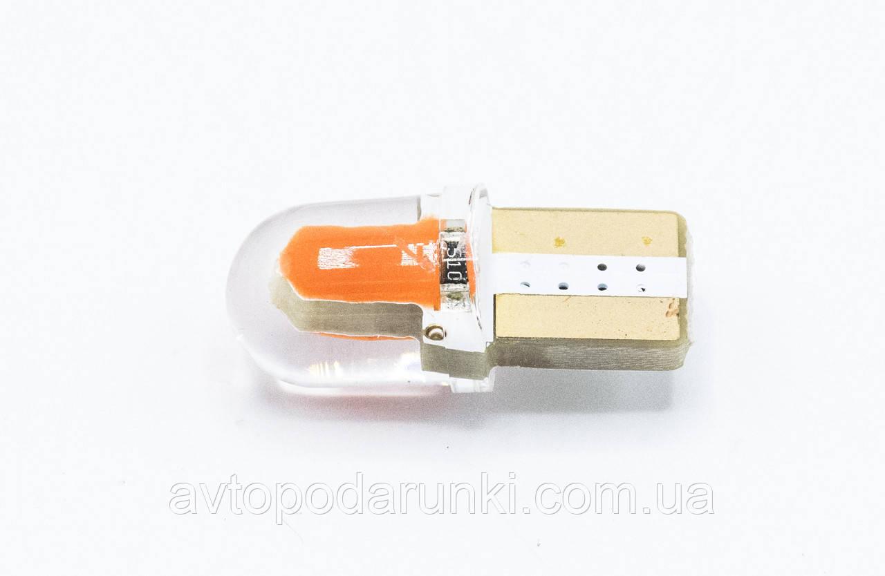 Габарит LED T10 #38 - COB type-B SHORT 12V / цвет Красный