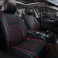 Кожа PU Авто Полный чехол для сиденья Защитный чехол для подушки Набор универсальных на 5 мест Авто - 1TopShop