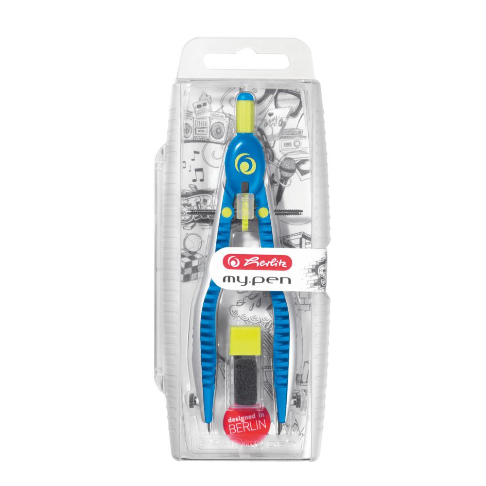Циркуль Herlitz My.pen Sport із запасними грифелями синій