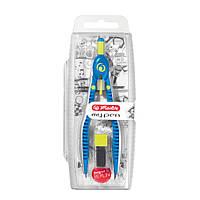 Циркуль Herlitz My.pen Sport із запасними грифелями синій, фото 1