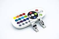 """Габарит T10-6LED RGB с пультом """"Remote Controlled colorful led lamps""""/T10-6LED-5050, фото 1"""