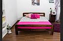 Кровать двуспальная односпальная деревянная 180х200 Массив дуба Ліжко, фото 5