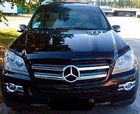 Мухобойка, дефлектор капота Mercedes GL-Class X164 (2006 -2012) 'SIM'