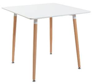 Квадратний стіл Richman Ксав'єр дерев'яний білий мдф 80х80 см