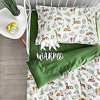 """Комплект дитячої постільної білизни Warmo™ """"Олені"""" 1,5-спальний"""