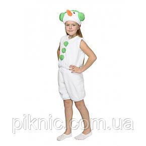 Костюм Снеговик 4,5,6,7 лет Детский новогодний карнавальный маскарадный Снеговичок для детей Зеленый, фото 2