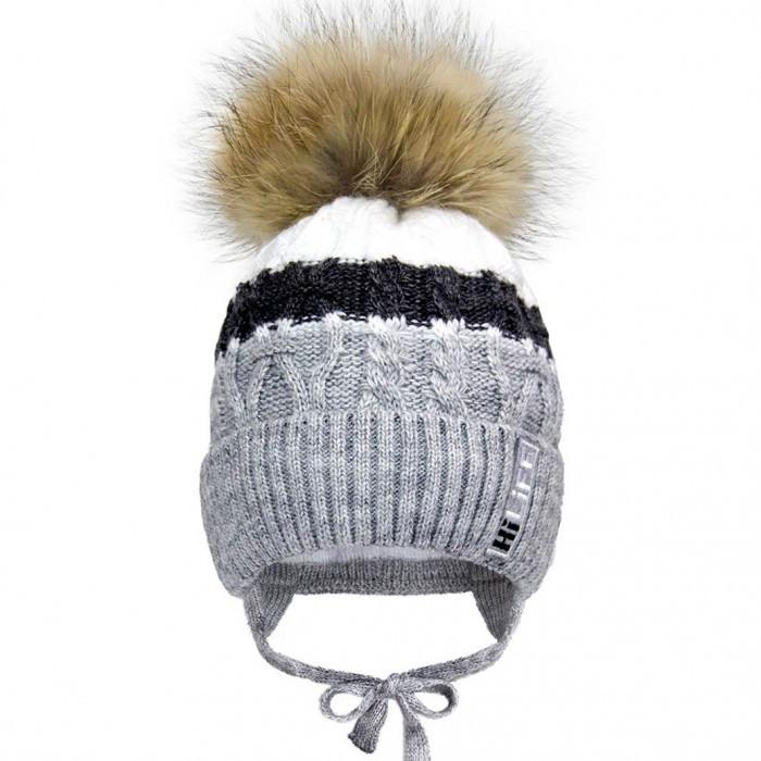 Детские зимние вязаные шапки р-р 50