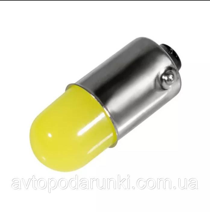 Габарит LED BA9S - COB - 1W (метал) / Белый