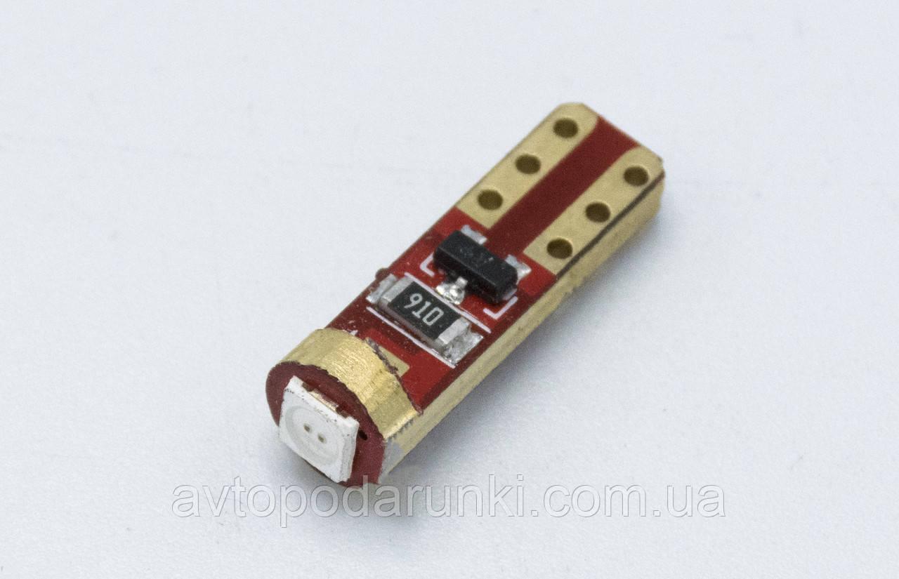 Габарит LED T5  - 301 - 2COB ( CAN BUS ) / Синий