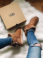 САПОГИ ЖЕНСКИЕ UGG MINI BAILEY BOW II Brown
