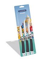 Набор ножей (чёрный) Tramontina Amalfi 3 предмета 23499/674