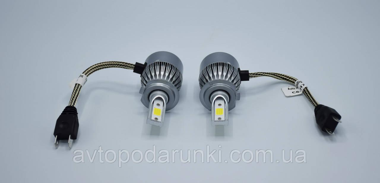 C6-H7 LED лампы головного света/1шт (Cooler)