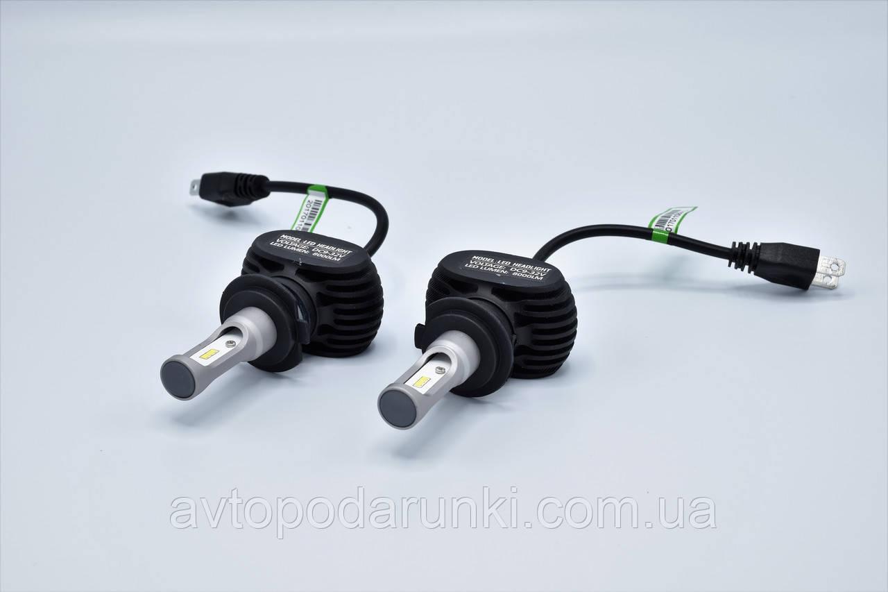 S1-H7 LED лампы головного света/9-32v/4000Lm/6500K/1шт