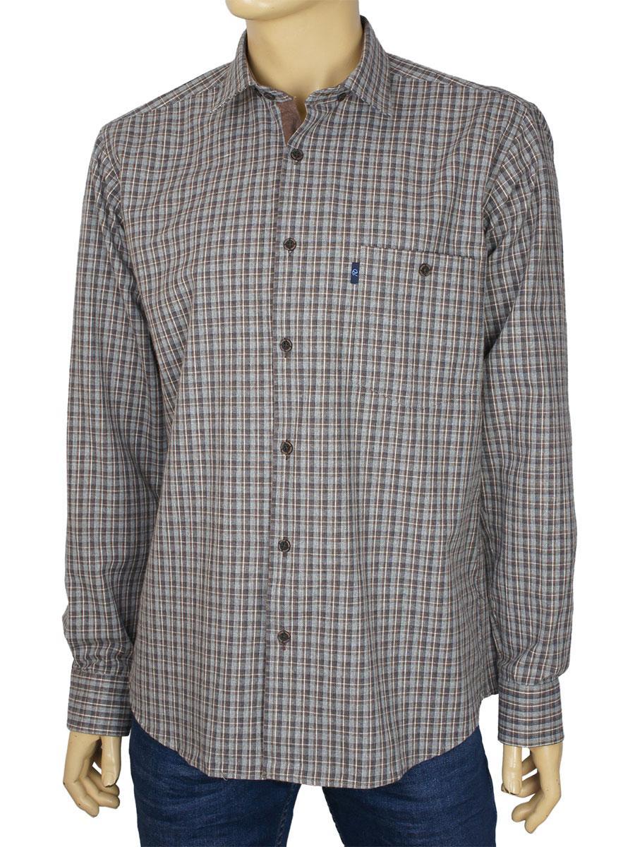 Мужская рубашка из натурального хлопка Negredo 3000-H#188