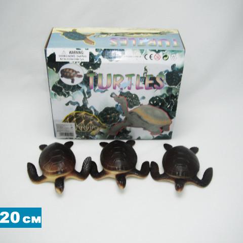 """Черепаха Гонконг резиновая с пищалкой, 7,5"""", H9915W"""
