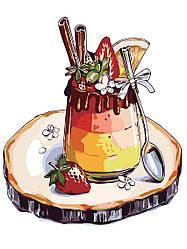 """Роспись по номерам """"Любимый десерт"""" 30*40см, AS0314"""