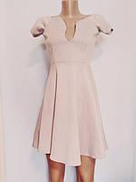Платье женское розовое бежевое элегантное Missguided (Размер 44 (S, UK10, EU38))