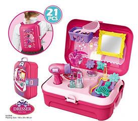 Парикмахерский набор в чемодане-рюкзаке, 21 деталь 8232