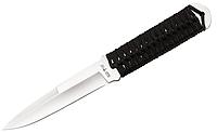 Нож для метания со шнуровкой на рукояти из жгута острый с двух сторон + чехол для тренировок