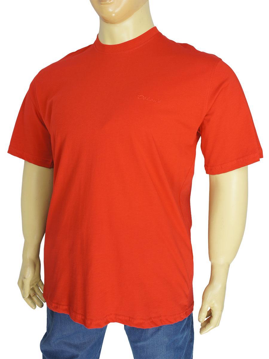 Красная мужская футболка больших размеров Dekons 1256 черв.