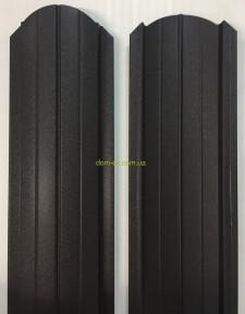 Штакет металлический 108 мм, 113 мм RAL 8019 матовый двухсторонний Китай 0,4 мм