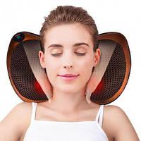 Массажная подушка Massage Pillow 8028-4 ролика Массажер Подушка для Массажа в авто Роликовый массажер