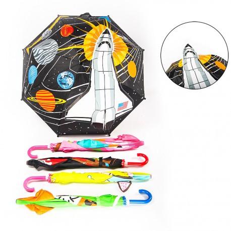 Зонтик цветной, 6 рисунков, 50см, BT-CU-0029