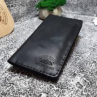 Мужской кожаный кошелек Lightning черный, фото 1