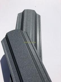Штакет металлический 108 мм, 113 мм RAL 7024 матовый двухсторонний Китай 0.4 мм