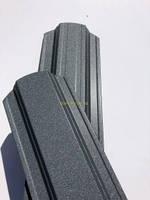 Штакет металлический полукруглый и трапецевидный RAL 7024 матовый двухсторонний Украина 0,4мм