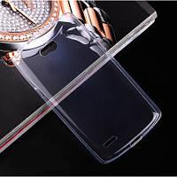 Чехол силиконовый ультратонкий для LG L80 Dual D380 прозрачный