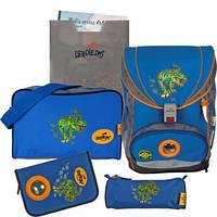 Школьный ранец DerDieDas Ergoflex Динозавр 5 предметов, 8040545
