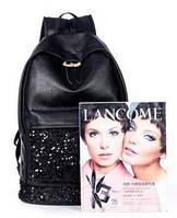 Рюкзак с пайетками черный