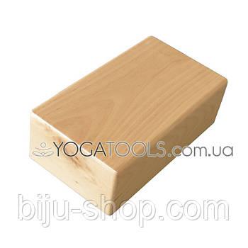 Кирпич для йоги, дерево (йога-блок деревянный)