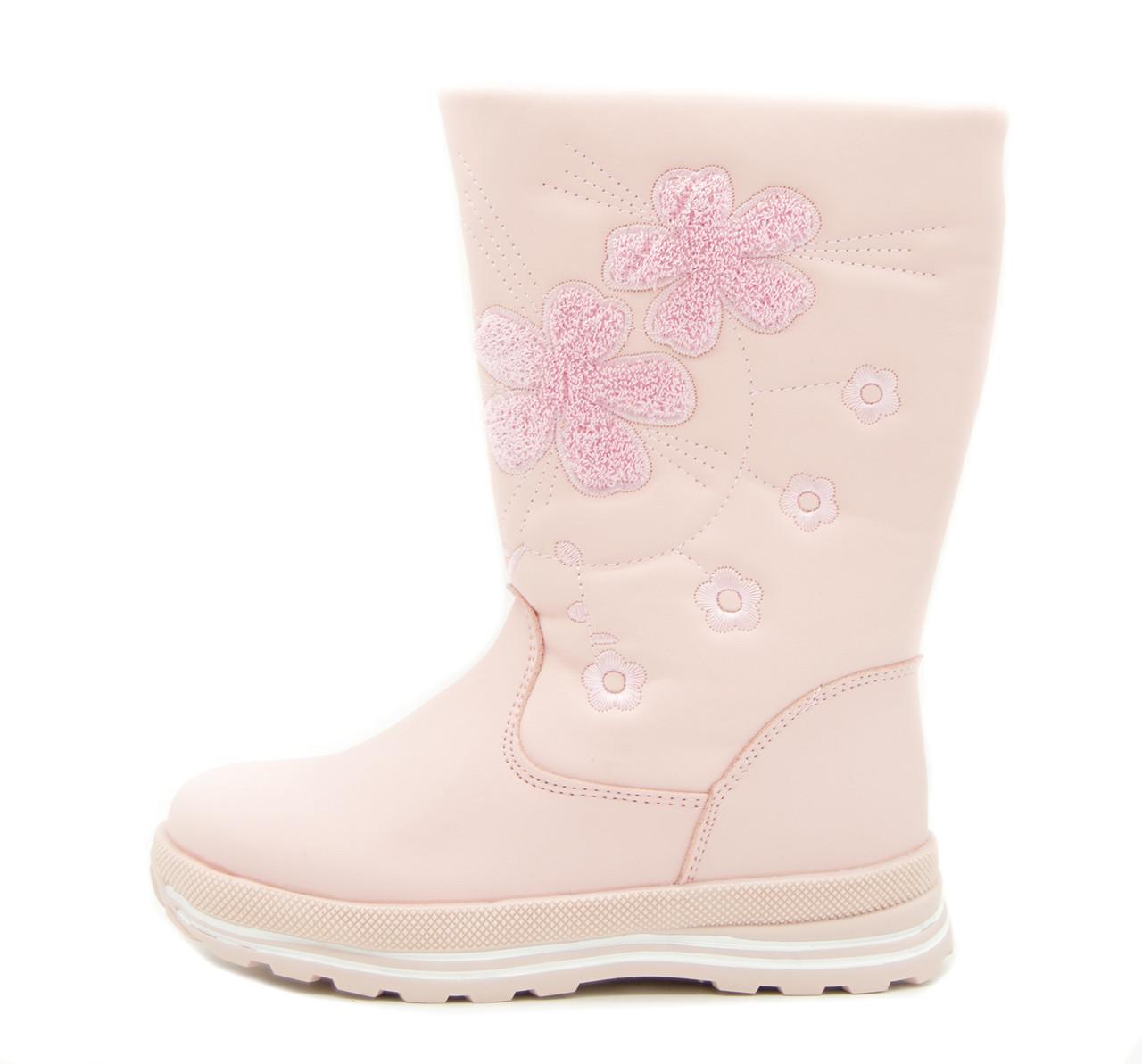 Сапоги для девочки Светло-розовые Размер: 32