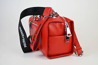 Сумка прямокутна червона Polina&Eiterou 944, фото 3