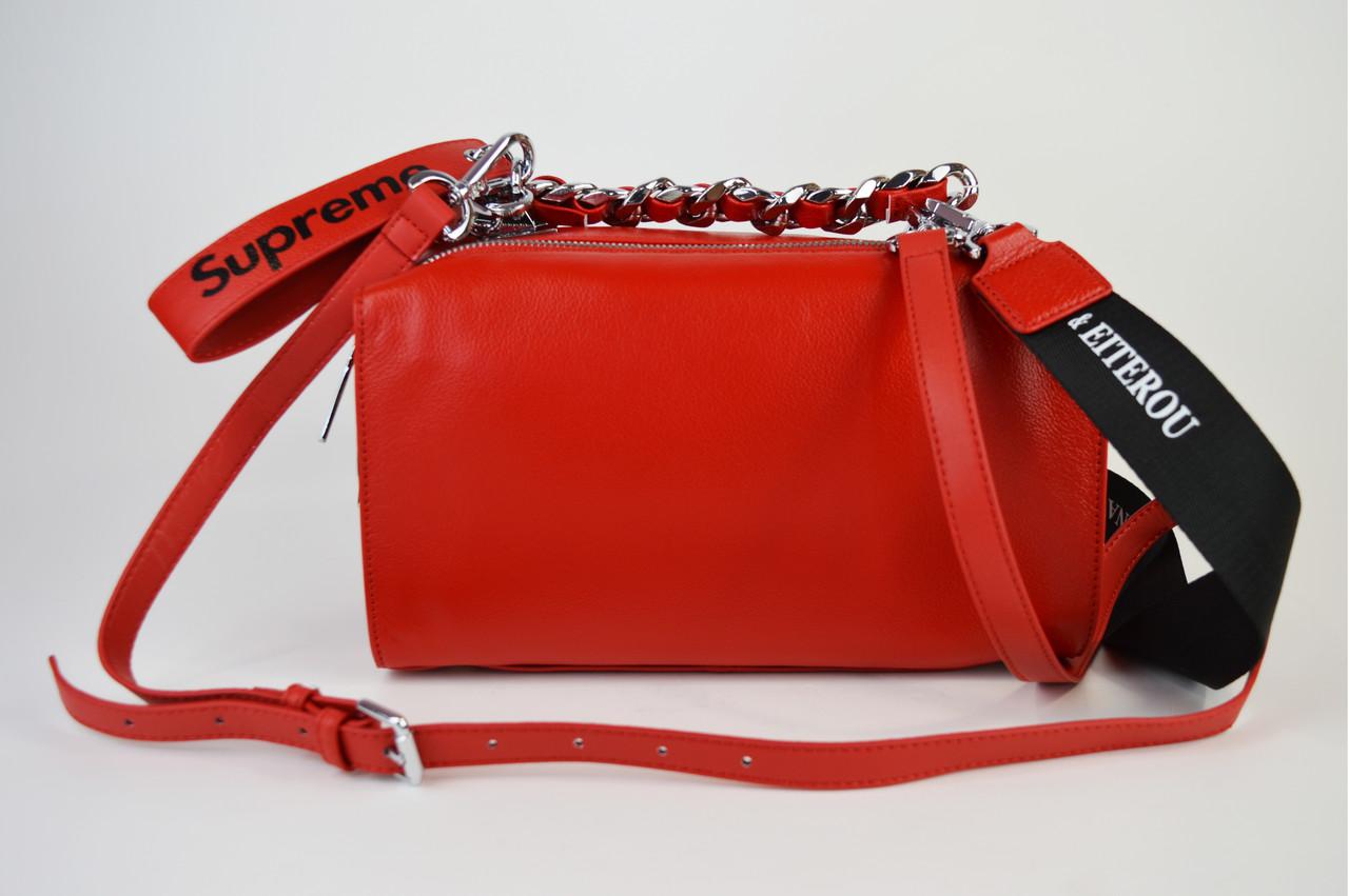 Сумка прямокутна червона Polina&Eiterou 944