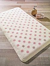 Коврик для ванной 55х57 Confetti Polka розовый горох CB33