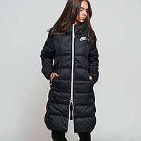 Куртка пуховик женский двухсторонний черный Nike DWN Fill Parka Rev