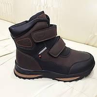 Ботинки кроссовки подростковые зимние для мальчика   34 36 37 коричневые