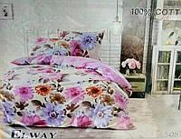 Комплект постельного белья полуторный  Elway 5057 cатин