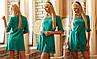 Шикарная стильная туника – платье Литиция бирюза