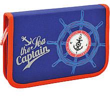 """Пенал твёрдый одинарный с клапаном """"Морской капитан"""""""